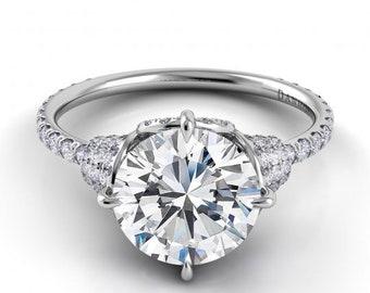 1ct Engagement Ring Moissanite Ring Moissanite Engagement Ring 14K White Gold Moissanite Wedding Rings Diamond Wedding Ring Set 1 Carat