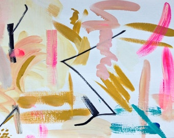 Niki Parker // Original Abstract Art 'BABY CAKES' // Fine Art Paper