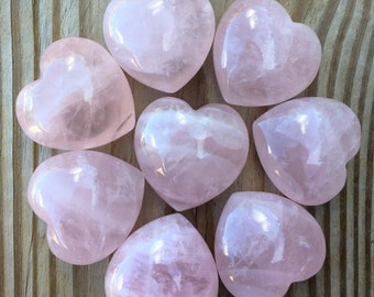 Rose Quartz Heart 45MM with Organza Pouch