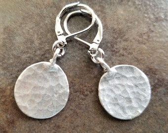 Hammered Silver Rounds