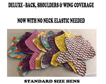 1 Deluxe Shoulders Wings and Back Chicken Saddle Aprons Back Feather Protection Rooster Spur Protection Chicken Jacket Poultry Supplies