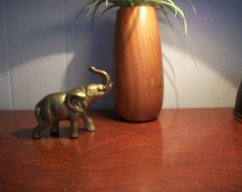 Small Vintage Brass Elephant Trunk Up Good Luck Knick Knacks Home Decor