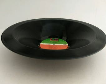Foreigner Smooth Record Bowl Hand Made from Upcycled Vinyl Record