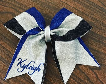 3 color cheer style bow
