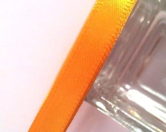 Orange satin ribbon - 25 m - 6mm T41