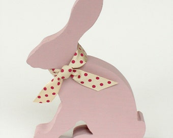 Wooden Baby Hare Silhouette - Pink