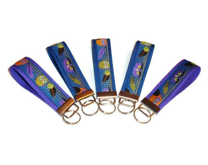 Owls Key Fob - Owls - Owls Key Ring - Stocking Stuffer - Teacher Gift - Gift Under 10