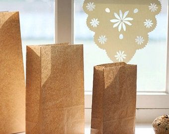 30 Basic Kraft Paper Bags - S size (4.7 x 8.7in)