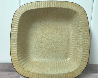 Vintage Pottery Craft Bowl, Made in USA, Stoneware, Square Serving Bowl, California Pottery #566