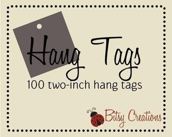 100 2inch Hang Tags