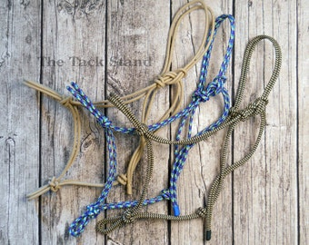 """35 COLORS HIGH QUALITY Original Premium Firm 1/4"""" Rope Halter with 12 set sizes or custom"""