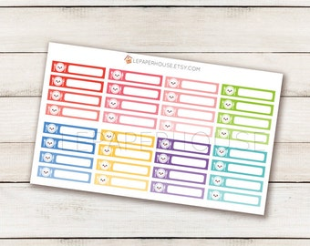 Individual Meal Planning Stickers, matte or glossy planner stickers, life planner stickers, erin condren filofax, mambi happy planner