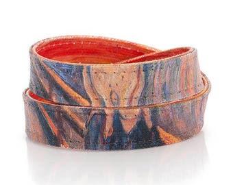 Edvard Munch The Scream Canvas Bracelet Handmade Womens Mens Art Teacher Gift fathers day gift