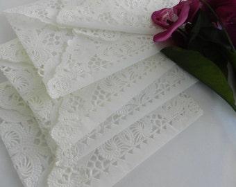 White Doily Lace Envelopes, Vintage Lace Envelopes, Vintage Paper Doily Envelopes, Vintage Inspired, Doily Paper Lace Envelopes