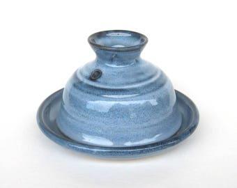 Garlic Baker - Pacifica Blue Glaze