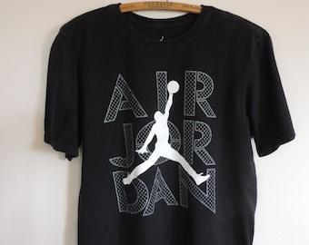 Vintage T Shirt Air Jordan Nike Sportswear Wear 100% Cotton Print T Shirt Nike Size M XL