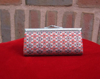 Vintage coin purse with leather interior