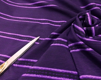 100% Crinkle Polyester Purple /Lilac Stripe /Dress/Crafts Fabric