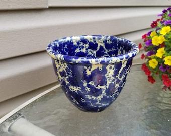 Bennington 1876 Blue Agate Mixing Bowl Vermont