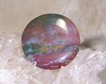 GROOVIES - Round Reversible Fancy Jasper for Wire-Wrapping