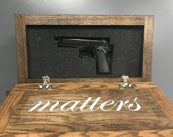 Hidden Gun Storage Farmhouse Style Wall Decor Family Matters