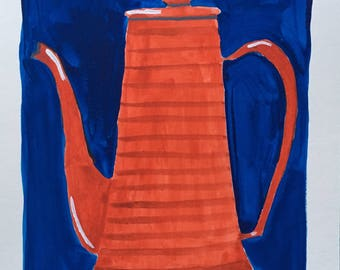 Painting of vintage Coffeepot