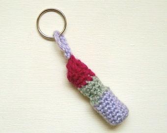 Crochet pattern PDF - Lipstick key chain