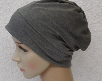 Women's chemo beanie, hat for short hair, chemotherapy patient head wear, viscose jersey beanie hat, surgical cap, chemo cap