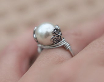 SALE JEWELRY TUTORIAL how to make a wrapped wire ring video lesson diy