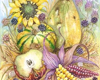 Harvest - Original Watercolor Painting