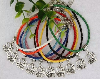 CHEER charm friendship bracelets