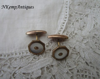 Vintage cufflinks 1930's Mother of pearl