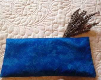 Lavender and Organic Flax Seed Eye Pillow in Blue Cotton