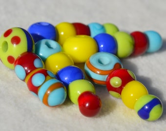 Artisan Lamp Work Beads- Lot 285