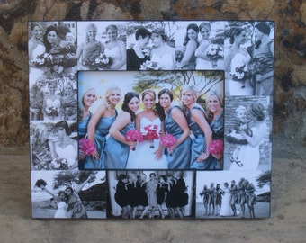 """Personalized Sister Gift, Maid of Honor Collage Picture Frame, Custom Bridesmaid Frame, Bridal Shower Gift, Parent Gift, NEW SIZE! 5"""" x 7"""""""