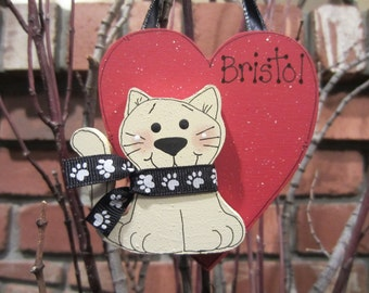 Personalized Cat Ornament, personalized ornament for pet, personalized pet, cat ornament, personalized family ornament, gift for cat lover