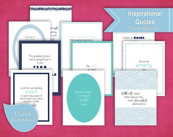 10 Printable Inspirational Quotes to Frame or Use in Planner