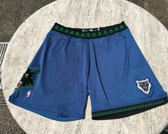 Authentic Pro-Cut Minnesota Timberwolves Shorts Adidas 44 2XL 3XL Game-Worn Craig Smith NBA Marbury Garnett Towns Butler Wiggins