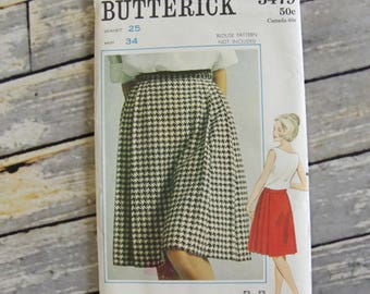 Vintage Butterick Sewing Pattern 3479 Pleated Skirt Size 6