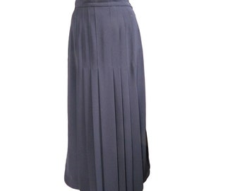 CHANEL-Navy Blue pleated MIDI skirt - vintage 1994 year - size 36 GB