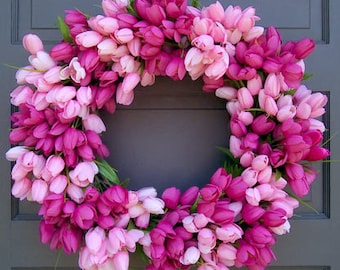 Pink Tulip Wreath