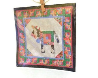 Quilting Pattern And Greeting Card by Piecemakers | Quilted Cow Card & Quilting Pattern