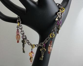 Charm Bracelet With Key Charms