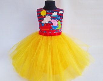 Soft Colours Peppa Pig Birthday Dress, Peppa Pig Party Dress, Peppa Pig Clothing, George Clothing for Girls