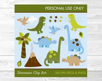 Cute Dinosaur Clipart / Dinosaur Baby Shower / Baby Shower Clipart / Baby Boy Shower / PERSONAL USE Instant Download A242