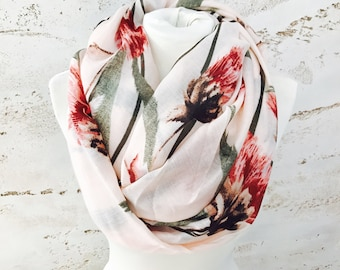 Dandelion infinity scarf, scarf, womens scarves, gift for her, chunky scarves, scarves, winter scarf, infinity scarves, dandelion scarf