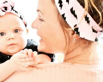 Ladies Headband, Jersey Knotted Headband, Adults Headband, Headband Bow