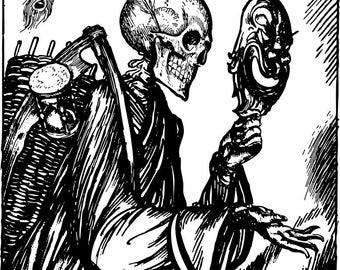 Death Mask Pattern- LARGE
