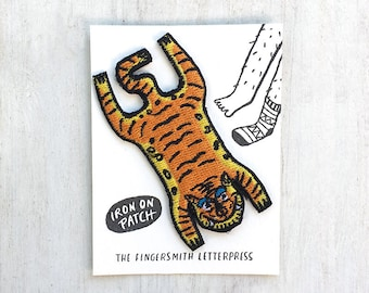 Tiger Skin Rug Iron On Patch