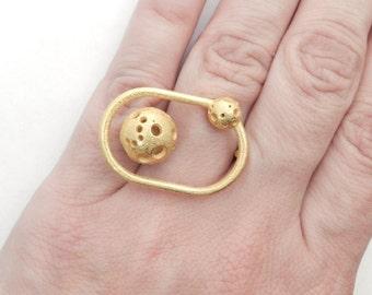 Moonball Orbit Ring (various finishes)